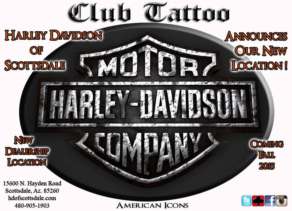 Club tattoo at harley davidson of scottsdale biker for Scottsdale harley davidson tattoo